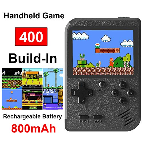 Retro Mini Game Machine,Handheld Game Console with 400 Classical FC Games 2.8-Inch Color Screen Support for TV Output , Gift Birthday for Kids, Adults (Gameboy Black)