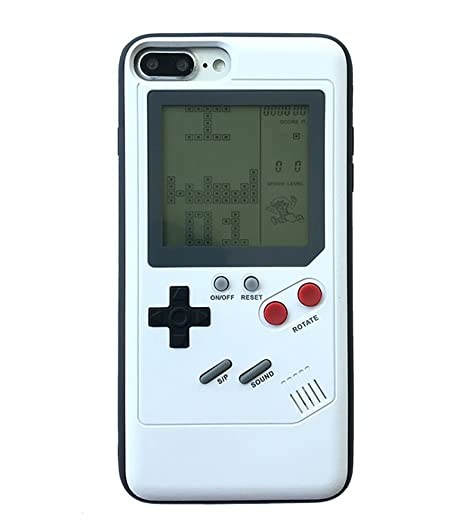 reputable site cb38c baf46 Amazon.com: UnnFiko iPhone 7 Plus Creative 3D Tetris Game Boy Case ...