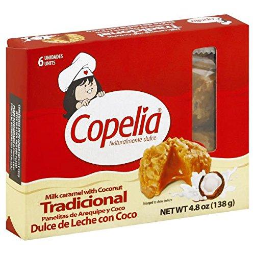 COPELIA Panelita de Arequipe y Coco/Milk caramel with Coconut x 6 (138 gr.) - 2 Pack. (Coco Milk)