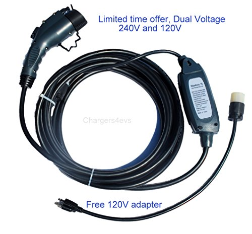 Price comparison product image Maxx-16 Electric Vehicle Charger (220V-240V) with nema 6-20 plug - 28 ft long - Level 2 - 16 amp Electric Car Charger - J1772 - EVSE - Color: Dark Gray