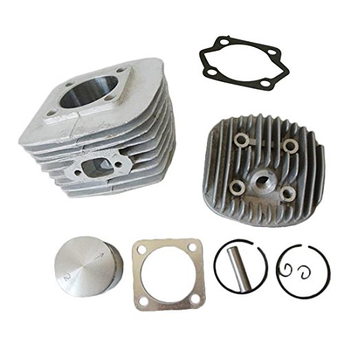 JRL 47mm Cylinder Head Set Fits 80cc Gas Motorized Bicycle Bike Engine ()