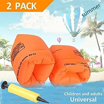 YTHH - Brazalete hinchable flotador de mangas flotantes para natación, brazaletes de tubo para niños y adultos: Amazon.es: Jardín