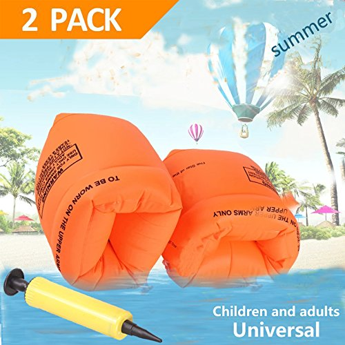 Swimming Arm Floats - YTH Arm Floaties Inflatable Swim Arm Bands Floater Sleeves Swimming Rings Tube Armlets for Kids Toddlers and Adults