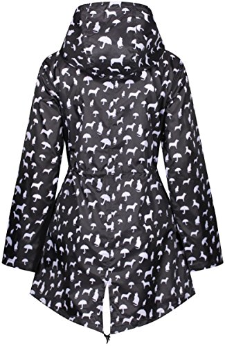 Dogs Print Abrigo mujer amp; para Raindrops impermeable by Finesse Cats YxAwqzR