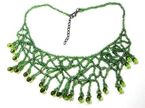 Amazon.com: Green Jungle Vines Beaded Collar Necklace