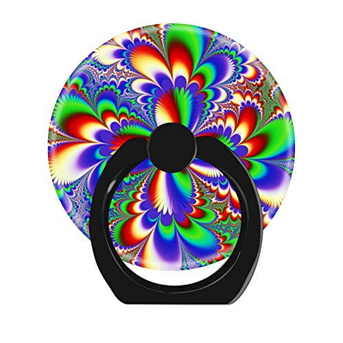 360 Degree Rotation Cell Phone Ring Holder Stand,Finger Ring Grip with Car Mount Hooks for Smartphones and Tablets-Colour of Flutter tie dye