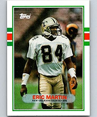 1991 Action Packed #176 Eric Martin New Orleans Saints Football Card Amerikaans voetbal