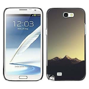 LECELL--Funda protectora / Cubierta / Piel For Samsung Note 2 N7100 -- Sugerencia Montaña --