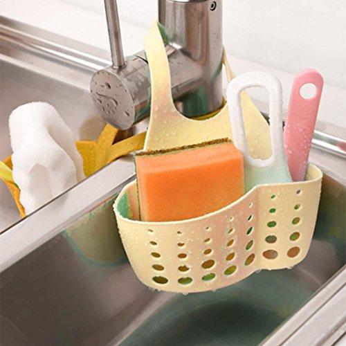 (Remiel Store Kitchen Bathroom Dish Drying Rack Holder Drainer Sink Storage Bag (A Khaki, 22cmX12cm) )