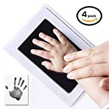 4-Pack UnicornTech Handprint Footprint Ink Pads Photo Frame | Safe Non-Toxic Ink & No Direct Contact Between Baby's Skin and the Ink | Perfect Gift for Newborn Baby Shower Registry