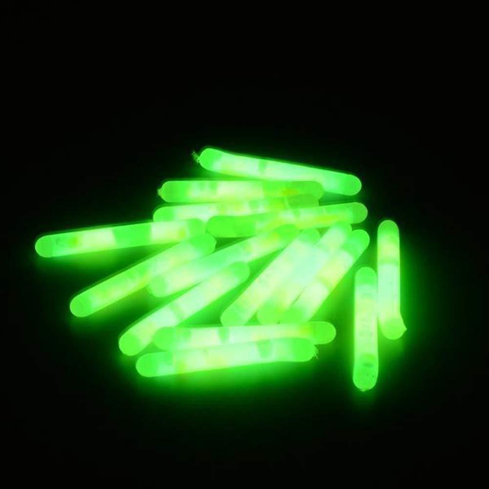Night Fishing Float Clip Glowing Stick Green Fluorescent Light 4.5*37mm New US