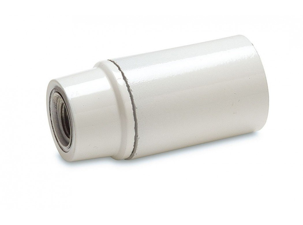 Famatel 461-B-Lamp supporto, superficie liscia, E14, colore: bianco, 2 A 250 V