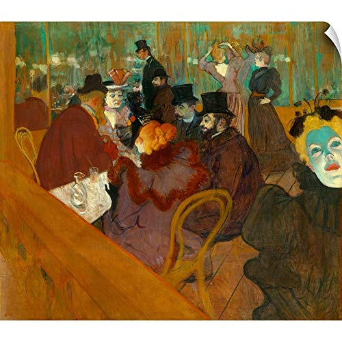 (CANVAS ON DEMAND Henri de Toulouse-Lautrec Wall Peel Wall Art Print Entitled at The Moulin Rouge 20