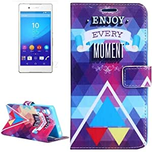 ENJOY EVERY MOMENT Pattern Flip Leather Case with Holder & Card Slots & Wallet for Sony Xperia Z4