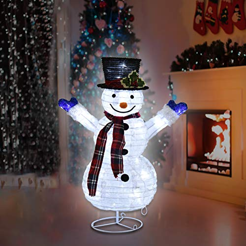 Christmas Snowman Family Lawn Decoration With Clear Led Lights Waterproof Collapsible Christmas Snowman Christmas Decorations For Indoor Outdoor Yard Lawn 23 6in Kproe