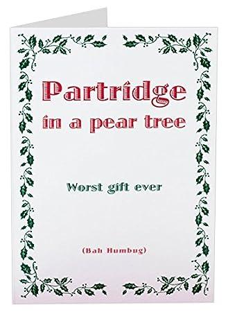 Amazon.com: Coulson Macleod Bah Humbug Funny Christmas Card, 4.75 x ...