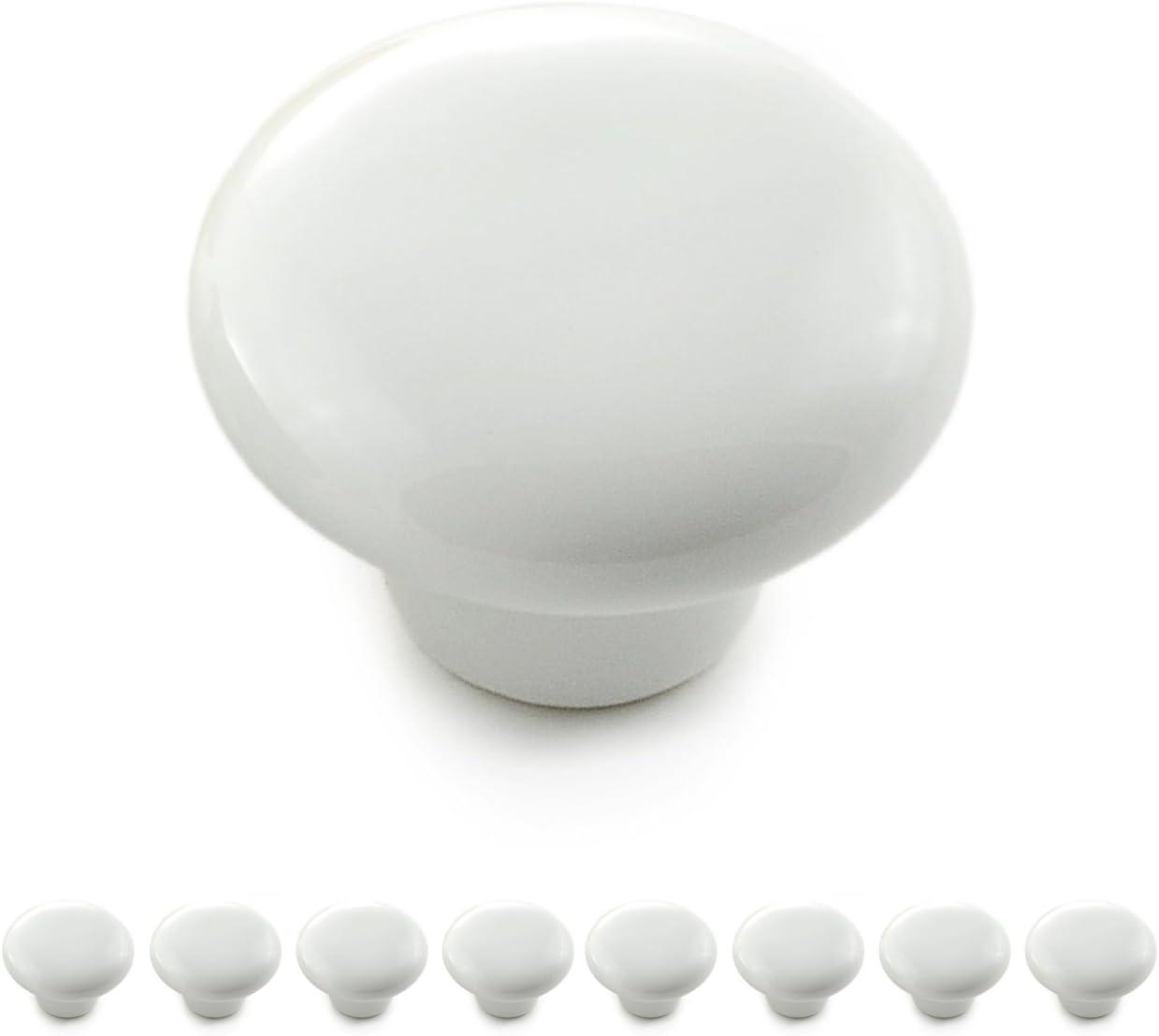 poign/ée en c/éramique couleur: noir bouton de tiroir bouton de meuble Poign/ée-bouton rond en porcelaine lot de 8 boutons bouton de placard vintage de la marque Ganzoo relooking d/éco int/érieur