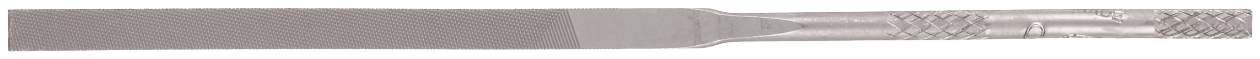 Nicholson Needle File with Handle, Swiss Pattern, Double Cut, Rectangular, #0 Coarseness, 6-1/4'' Length