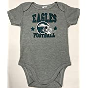 American PHILADELPHIA EAGLES ONE PIECE BODYSUIT GRAY SIZE 3-6 MONTH