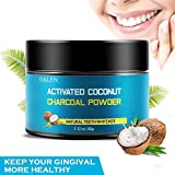 Activated Teeth Whitening Charcoal Powder Natural, Organic Coconut Activated Charcoal Teeth Whitening, Enamel Safe Teeth Whitener for Sensitive Teeth Gums (Black)