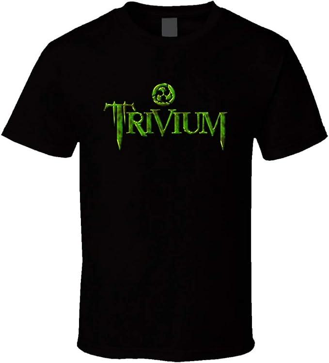 Nueva trivium banda metal rock estilo camiseta negro