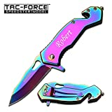 ForeverGiftsusa Free Engraving – Quality Stainless Steel Rainbow Pocket Knife Review