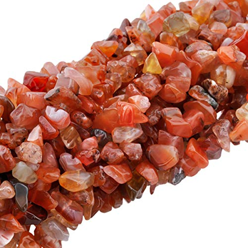 TUMBEELLUWA Polished Semi Precious Loose Beads for Jewelry Making, 5-8 mm Chips Tumbled Stones Beads 33
