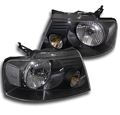 Headlights Crystal F150 (ZMAUTOPARTS Ford F150 F150 Oe Crystal Headlights Black)