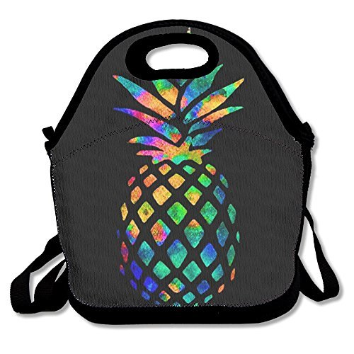 Watercolor Pineapple Lunch Tote Insulated Reusable Picnic Lunch Bags Boxes For Men Women Adults Kids Toddler Nurses