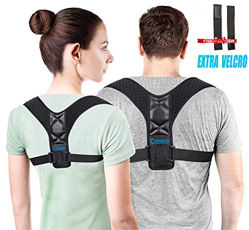 Comezy Back Posture Corrector for Women & Men - Powerful Magic Stickers Adjustable Clavicle Back...