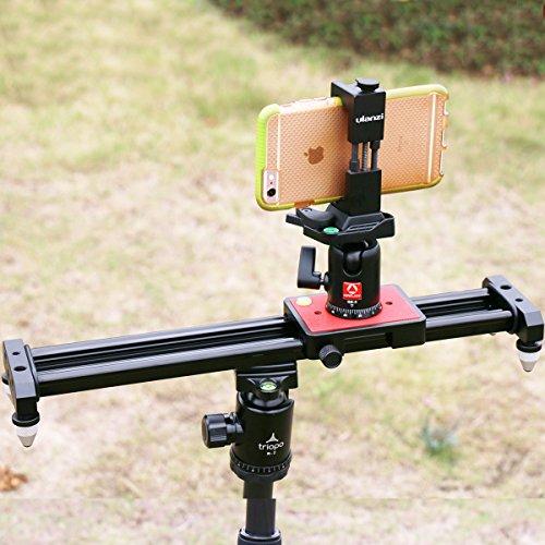 Ulanzi SL-40 40cm 15in Mini Video Slider, Compact Little Travel DSLR Camera Track Dolly Rail YouTube Vloging Gear