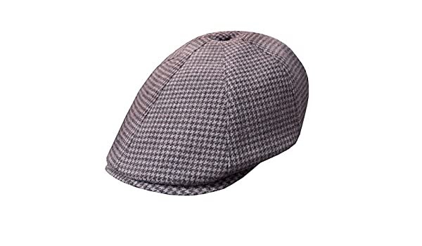 cde79036934 DelMonico Grey Tweed Wool Cashmere Pub Cap by Doria-Grey-60 at Amazon Men s  Clothing store