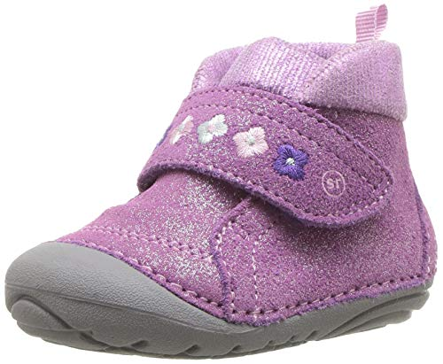 - Stride Rite Sophie Baby Girl's Adjustable Suede Boot Ankle, Purple, 6 M US Toddler