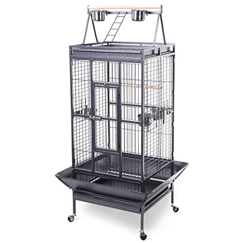 Bird Cage Large Play Top Parrot Finch Cage