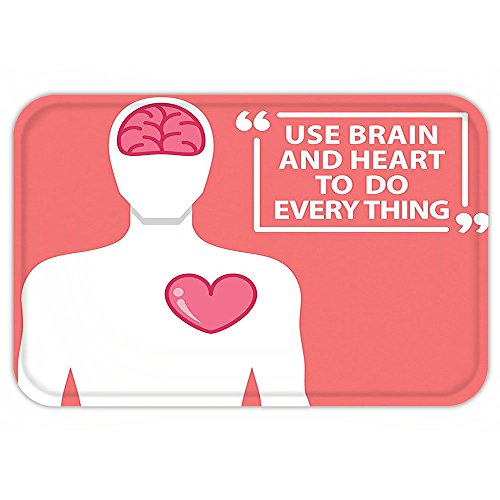 Kisscase Custom Door MatQuoteDecor Human Shape With WordUse Brain And Heart To Do Everything Relationship (Filmes Halloween Todos)
