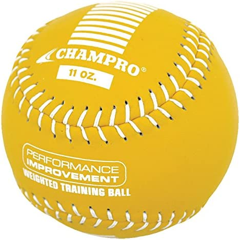 Champro Training Softball, Package (Yellow, 12-Inch/11-Ounce)