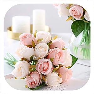 Memoirs- 12Pcs/Lots Artificial Rose Flowers Wedding Bouquet Royal Rose Silk Flowers for Home Decoration Wedding Party Decor 6