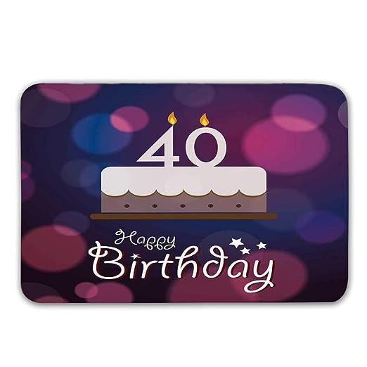 Soefipok 40 cumpleaños Decoraciones alfombras ...