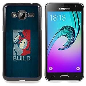 - Build Gaming - - Cubierta del caso de impacto con el patr??n Art Designs FOR Samsung Galaxy J3 Queen Pattern