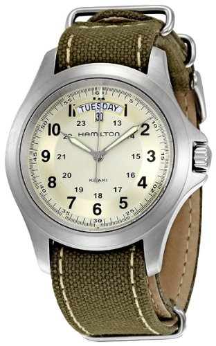Hamilton Men's H64451823 Khaki King Beige Dial Watch