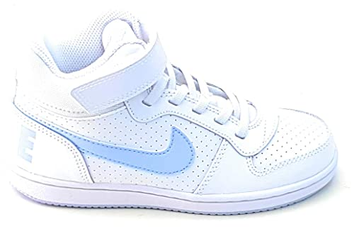huge discount 32e8d 79298 Nike Girls Court Borough Mid (PSV) Basketball Shoes, Multicolour  (White Royal