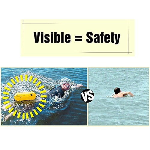 Treefrog Swim BUOY Safety Float for Open Water Swimmers Triathletes Kayakers and Snorkelers Highly Visible Buoy Float for Safe Training (THANK YOU Gift Included!!)
