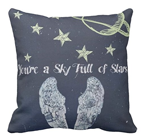 N/A CUSCINO PERSONALIZZATO FRASE COLDPLAY QUOTES SONG CANZONE YOU'RE A SKY FULL OF STARS IDEA REGALO - PILLOW