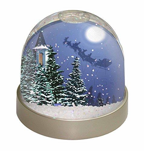 (Christmas Eve Night Santa on Sleigh Photo Snow Globe Waterball Stocking Filler G by Advanta - Snow Globes)