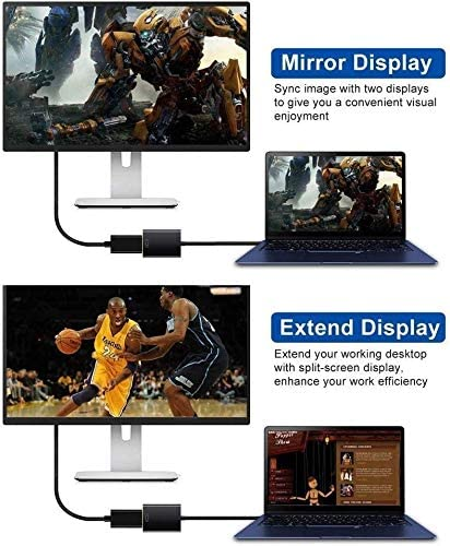 Video and Audio Multi-Display Converter Compatible with Windows 7//8//10 Male to Female USB 3.0 to HDMI Full HD 1080P NO MAC /& VISTA USB to HDMI Adapter