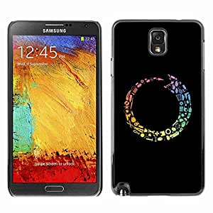 Planetar® ( Colorful Tool Cycle ) Fundas Cover Cubre Hard Case Cover Samsung Galaxy Note 3 III / N9000 / N9005