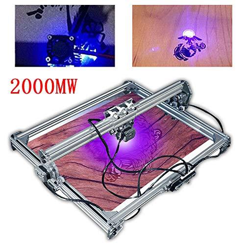 CNC DIY Desktop Mini Laser Engraving Machine 2000mW Desktop Mini Laser PCB PVC Milling Wood Carving Cutting Kit 3D Printer Metal Marking Engraver 65x50cm 12V
