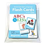ASL Flash Cards - Learn Signs for ABC's and 123's - English, Spanish and American Sign Language (American Sign Language Flash Cards) (English and Spanish Edition)