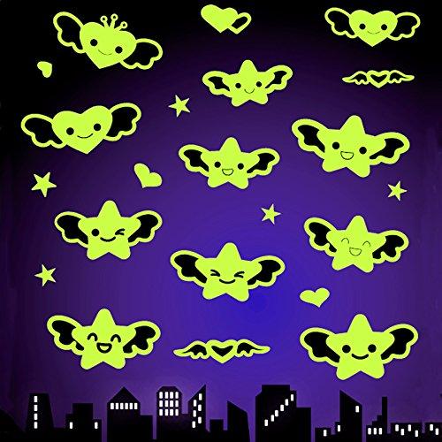 im Dunkeln leuchtend Traumsterne Leuchtsticker für Sternenhimmel Wandsticker