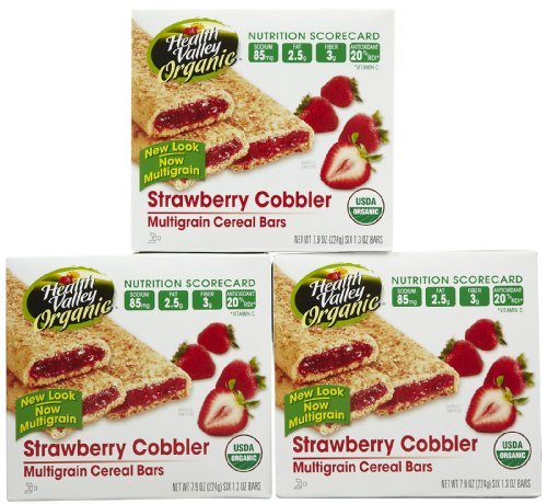 Health Valley Cobbler Cereal Bars - Strawberry - 7.9 oz - 6 ct - 3 pk